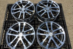 WEDS KRANZE LXZ CHROME ALLOY WHEELS 15 Inch 4×114.3 +45 AE86 HONDA NISSAN DRIFT *UK STOCK*