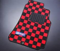 NEW D MAX Interior Floor Mats – Checkered – 200SX S13 S14 S15 SILVIA – JAPAN Stock