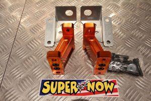 Supernow Front Short Stabilizer Brackets RX-7 FD3S (Orange Alumite)