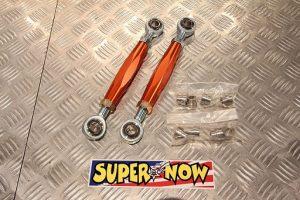 Super Now Three Piece Rear Toe Control Upper Arm Links RX-7 FD3S (Orange Alumite)