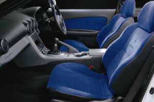 Blue Suede Nissan Silvia S15 SPEC R Passenger Side Seat Upgrade S13 S14