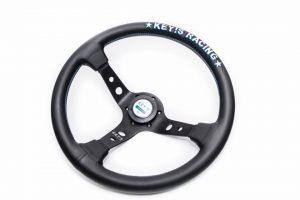 Original Key's Racing – Deep Dish – Leather Steering Wheel & Horn