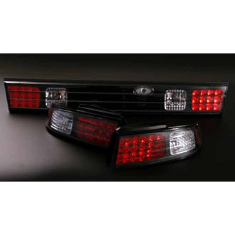Nissan Silvia S14 LED Black Tail Lights - Set