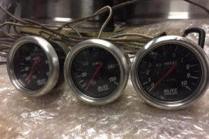 Classic Mechanical BLITZ WATER & OIL Temperature And Pressure Gauges – S13 S14 RX7 MR2 Wrx Sti EVO R32 R33 Skyline GTR