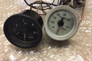 Mechanical OMORI OIL Pressure & Temperature Gauges – S13 S14 Rx7 Mr2 Wrx Sti Evo R32 R33 Skyline Gtr