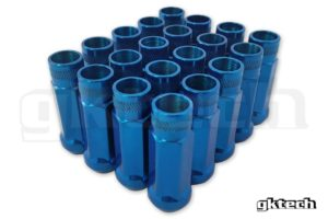 Gktech BLUE – OPEN ENDED LUG NUTS (PACK OF 20)