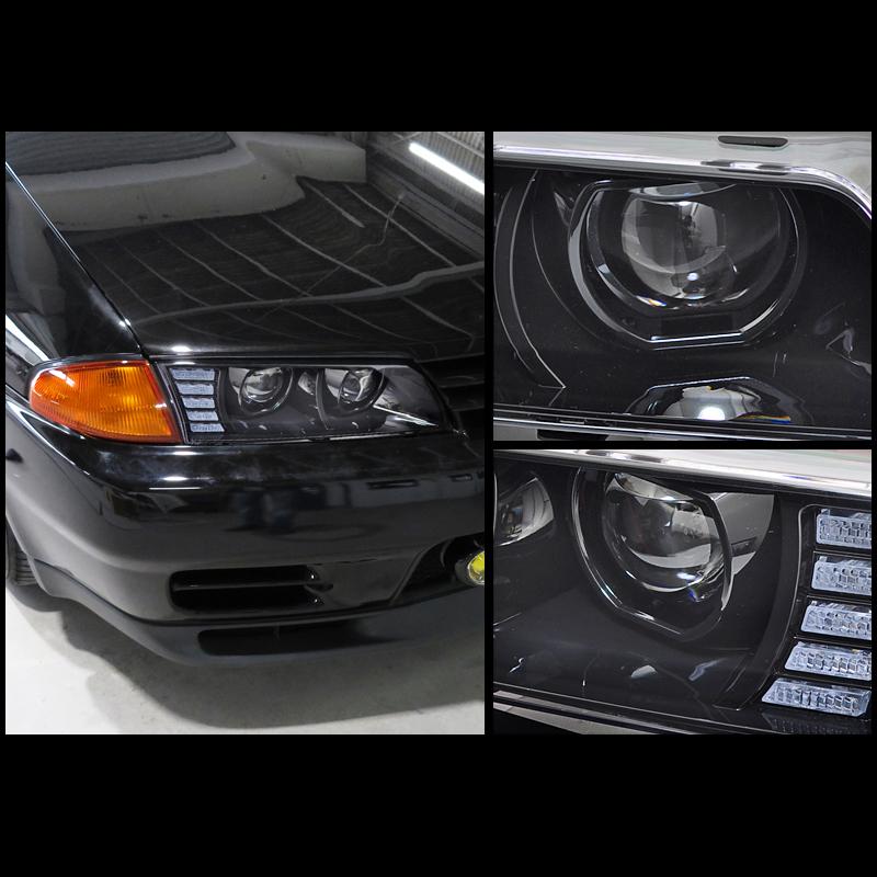 78WORKS R32 Skyline GTS GT-R Full LED Black Headlight HCR32 BNR32 HR32