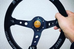 LIMITED EDITION Vertex Steering Wheel – ILLIST – DISHED SPOKE T&E Made – Exclusive To JapwestMods